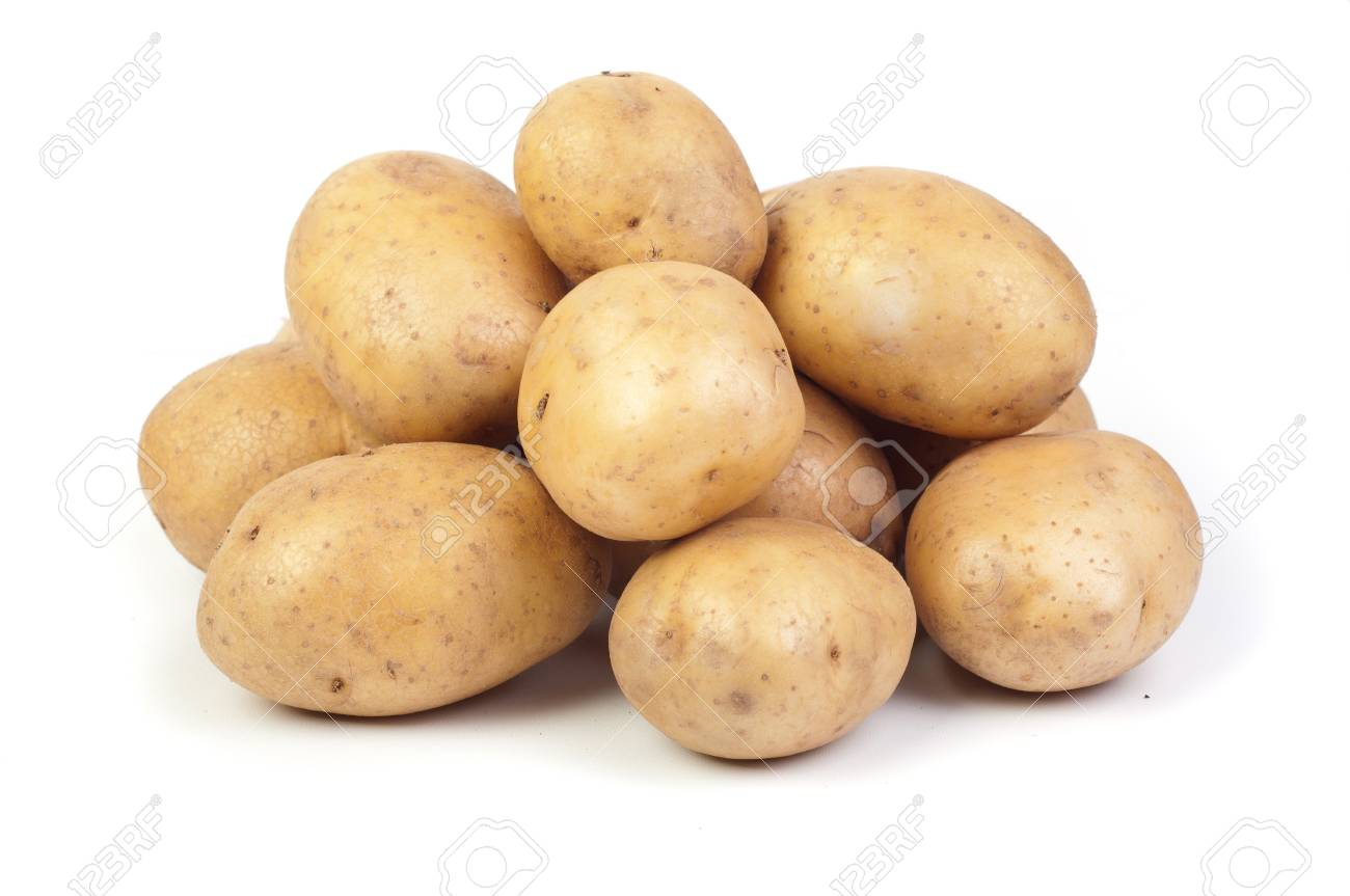 potatos on white Stock Photo - 19354876