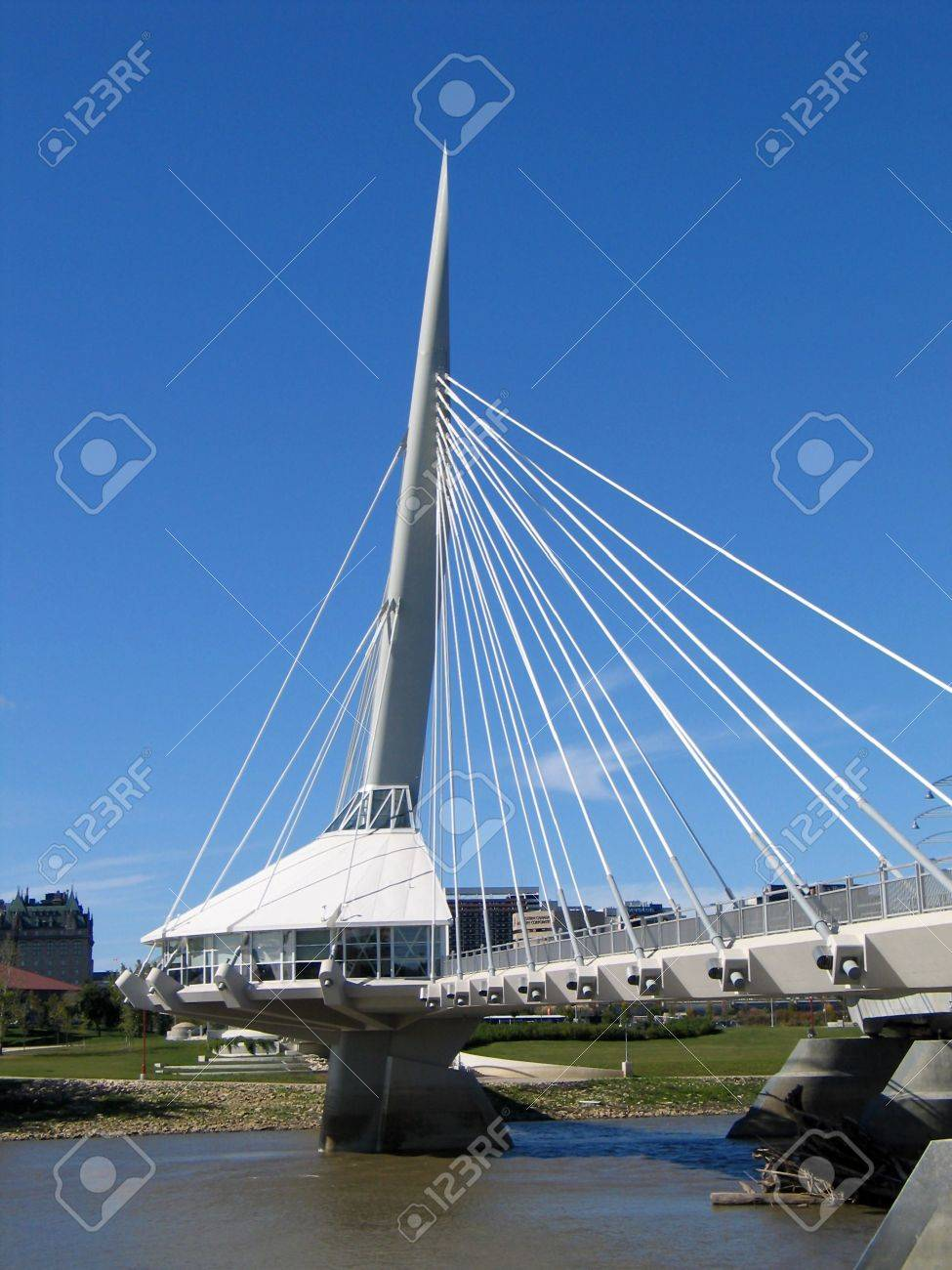 Provencher Bridge, in Winnipeg, Manitoba, Canada. Stock Photo - 417606