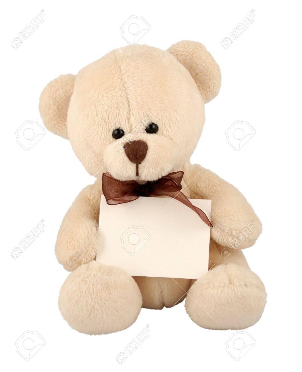 Cute teddy bear with sign. Stock Photo - 721410