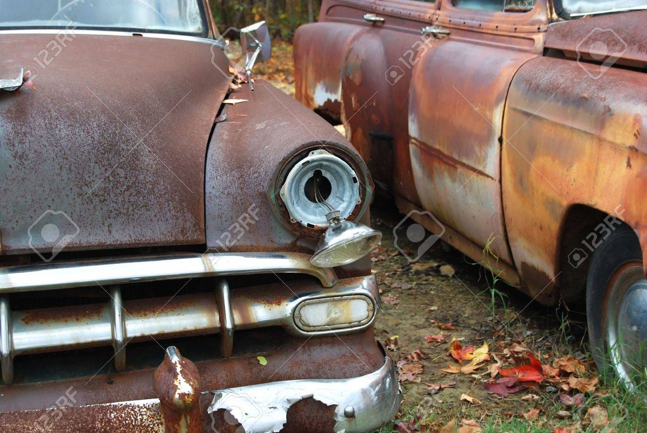 Old Classic Cars Left To Rust Stock Photo, Picture And Royalty Free ...