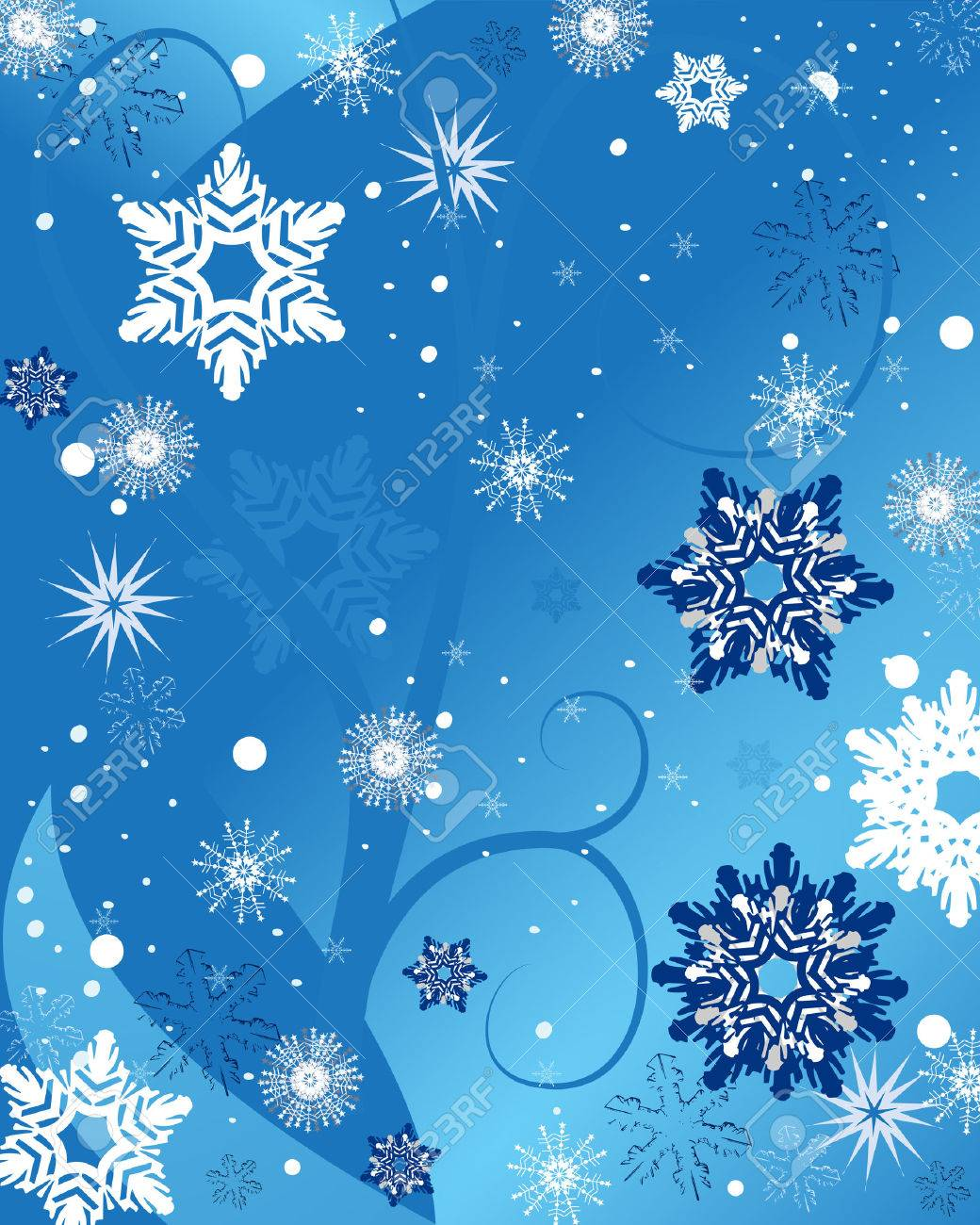 blue snowflake background Stock Vector - 8157530