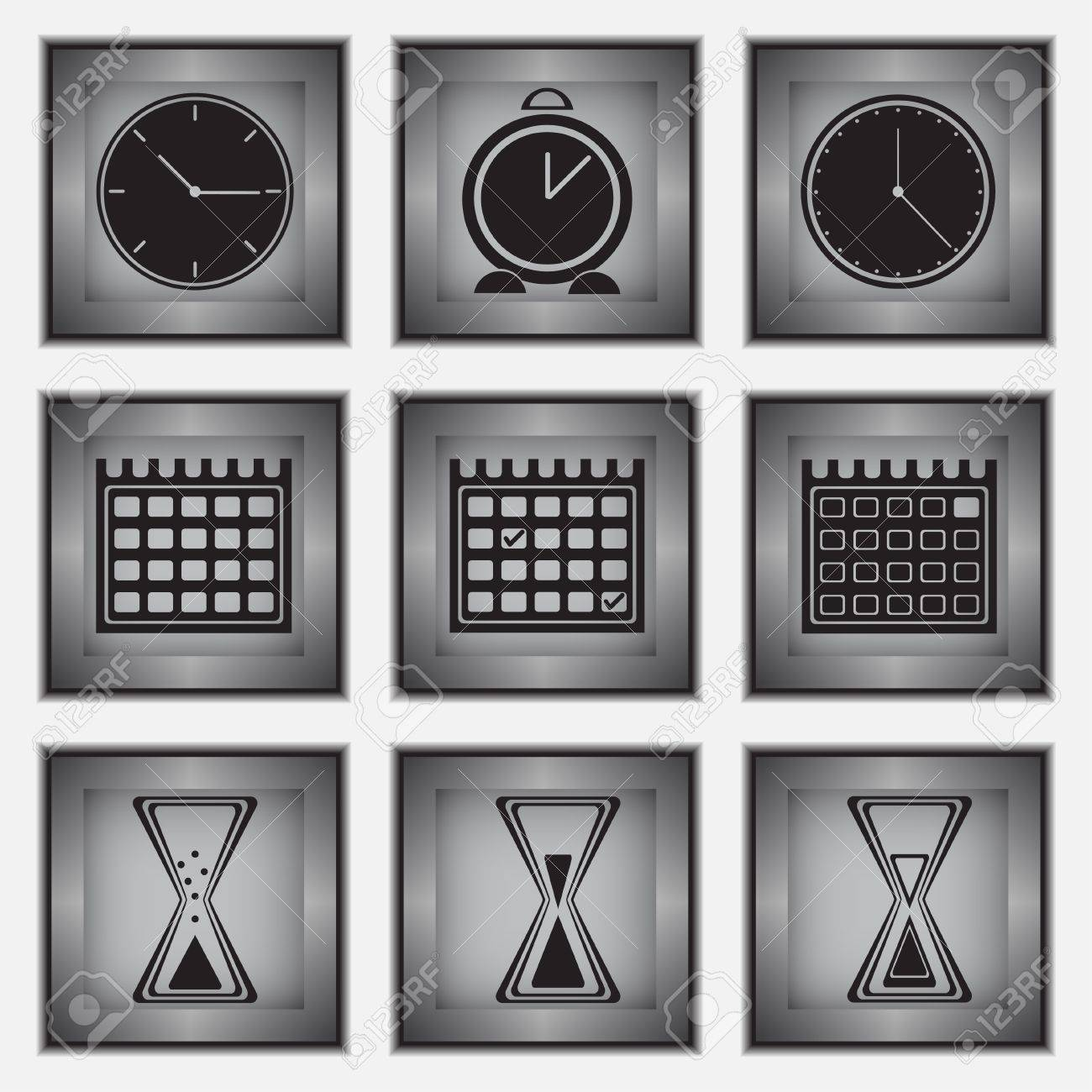 Vector  illustration of various time icons Stock Vector - 19716025