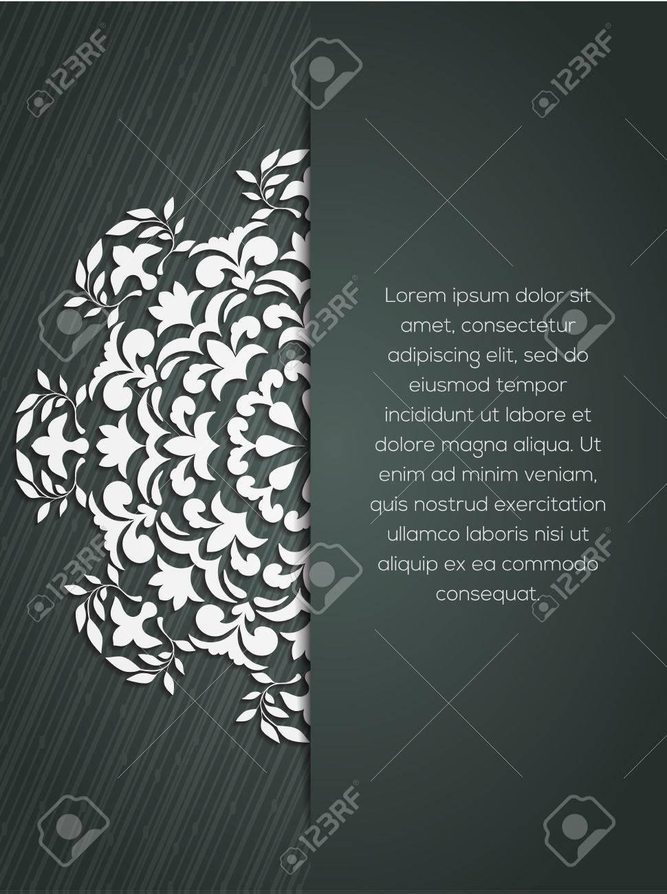 Lément Décoratif Mandala élément De Mandala Dessiné Main Peut être Utilisé Comme Carte Dinvitation Pour Le Mariage Anniversaire Et Autre