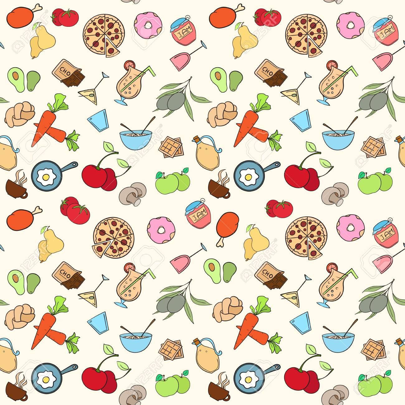 seamless food pattern can be used for wallpaper, website backgroundseamless food pattern can be used for wallpaper, website background, wrapping paper restaurant