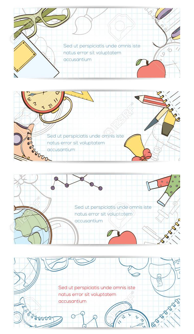 Back To School Invitation Card Can Be Used For Holiday Cards