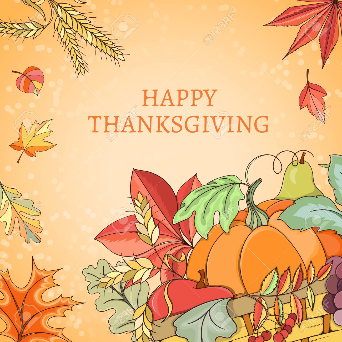 Thanksgiving Card Can Be Used For Can Be Used For Holiday Cards