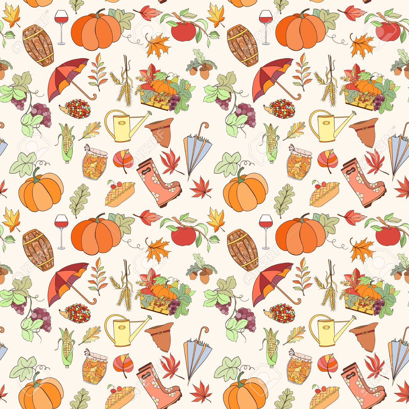 autumn seamless pattern can be used for wallpaper, website