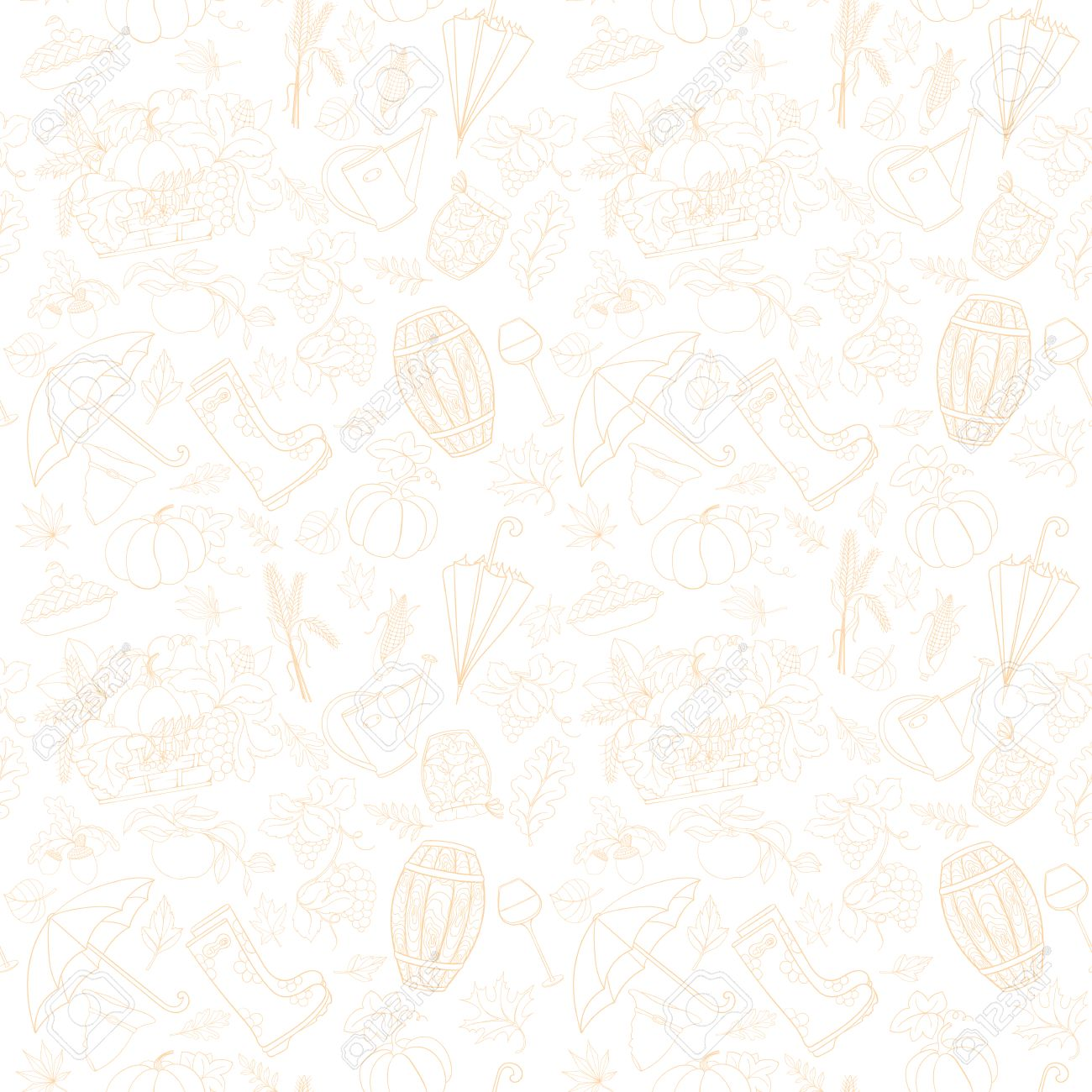 Autumn seamless pattern can be used for wallpaper, website background, wrapping paper. Autumn