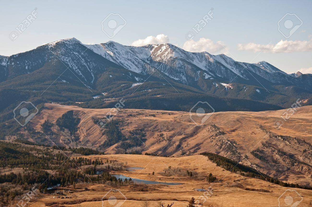 The Nurses Lakes and Gallatin National Forest on the West Boulder basin near McLeod, Montana. Stock Photo - 8578289