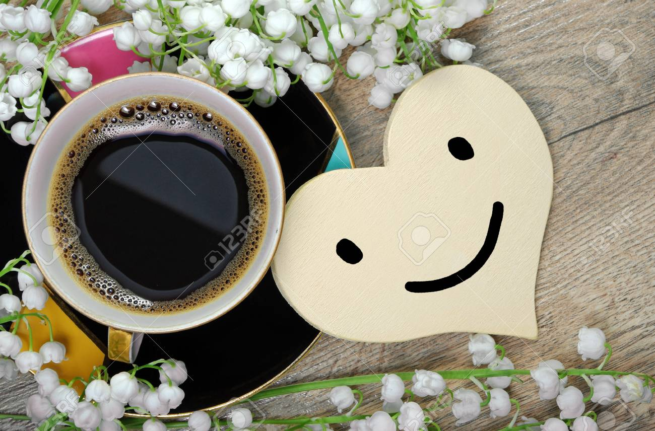 Good Morning Or Have A Nice Day Message Concept Morning Coffee