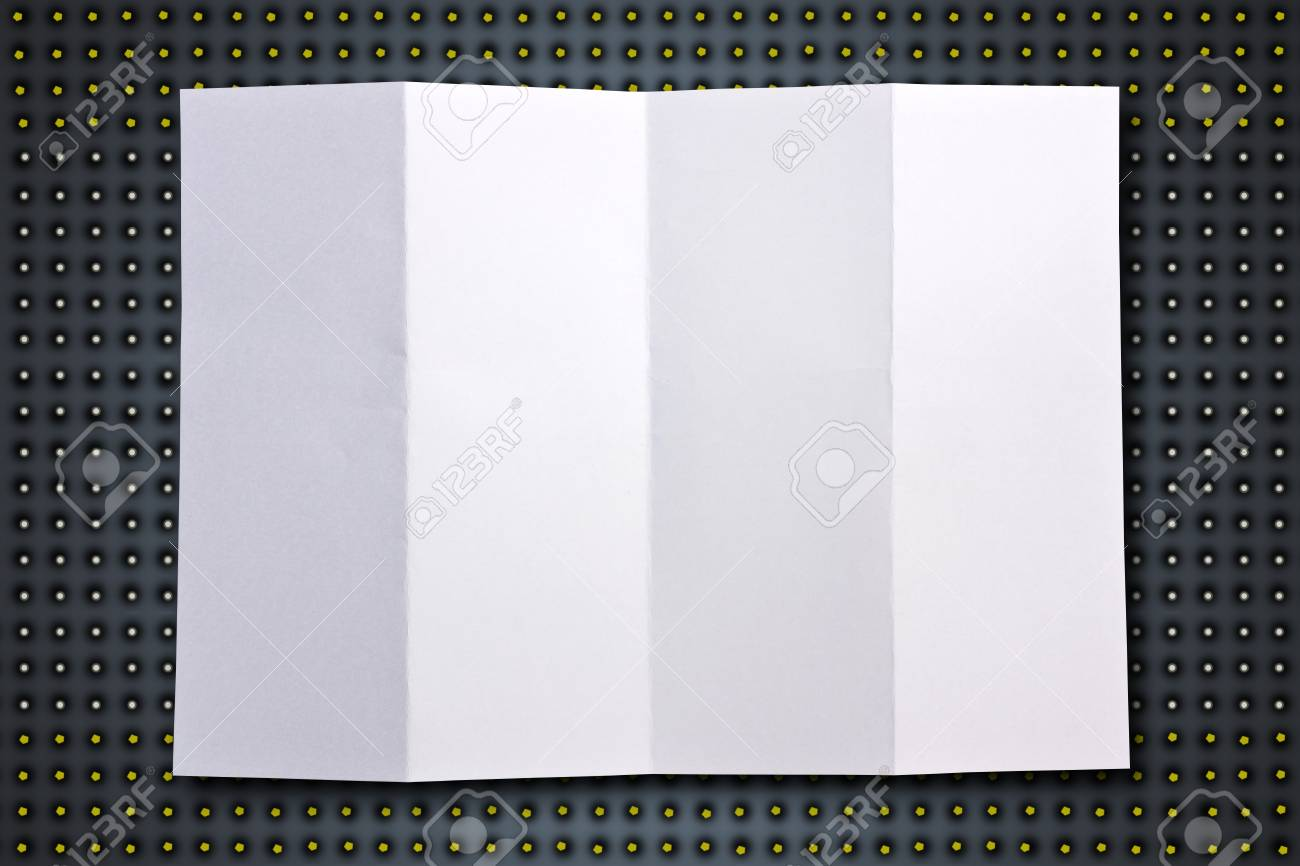 White paper on a black background. Stock Photo - 13850728