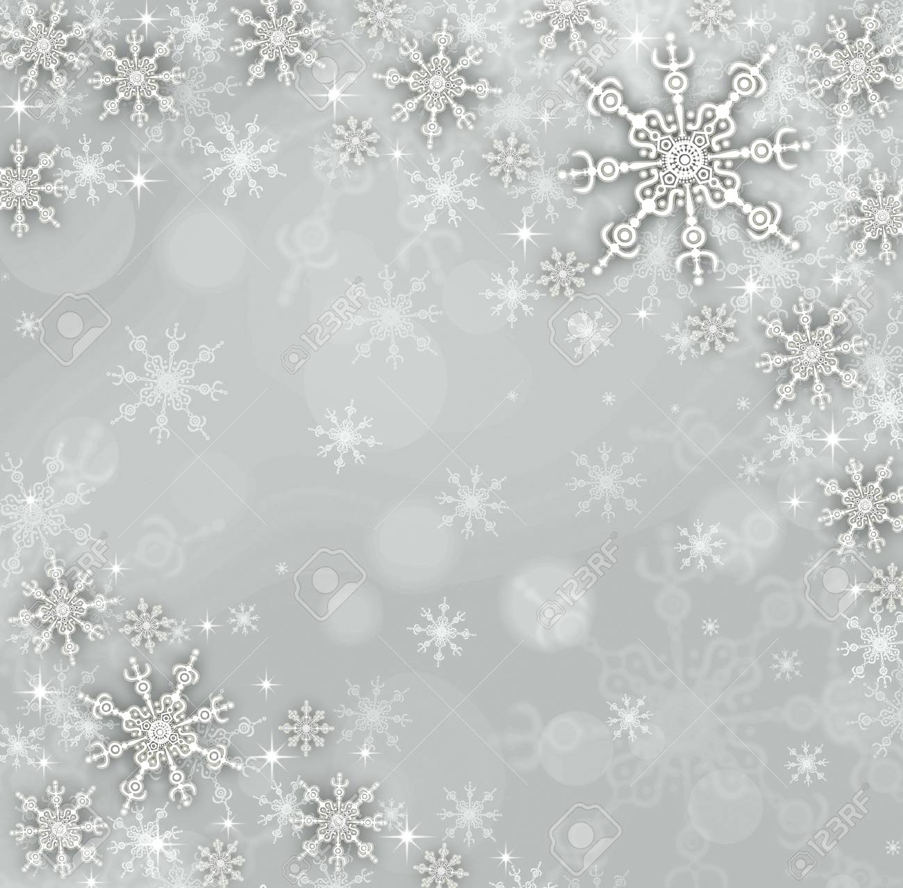 abstract Christmas background with snowflakes Stock Photo - 14749200