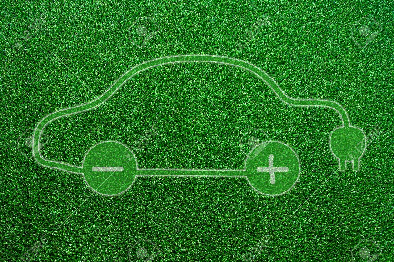 8195 template - Hybrid Green Ecological Electric Car Sign