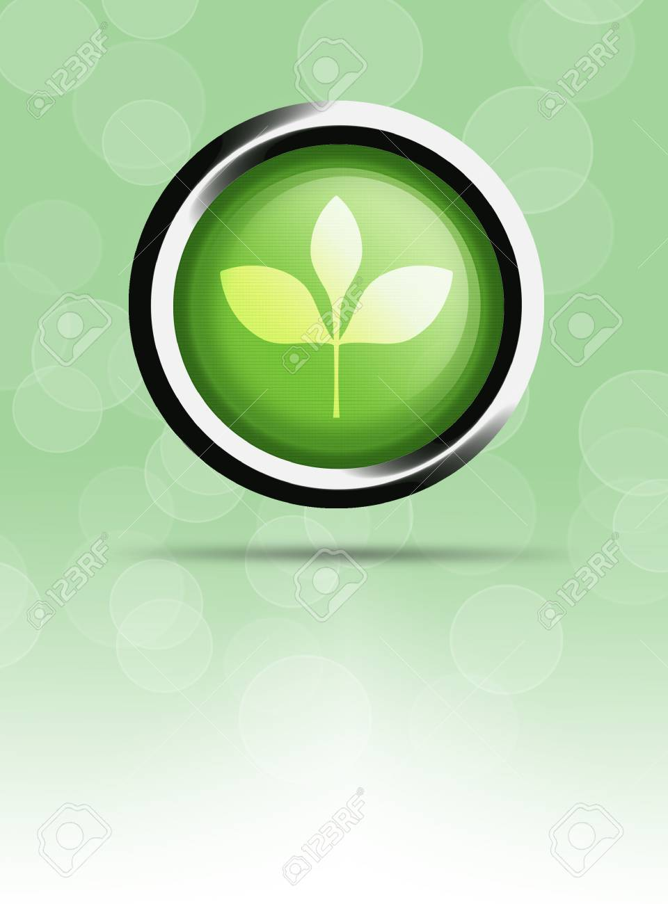 Natural background button. Stock Photo - 15221441