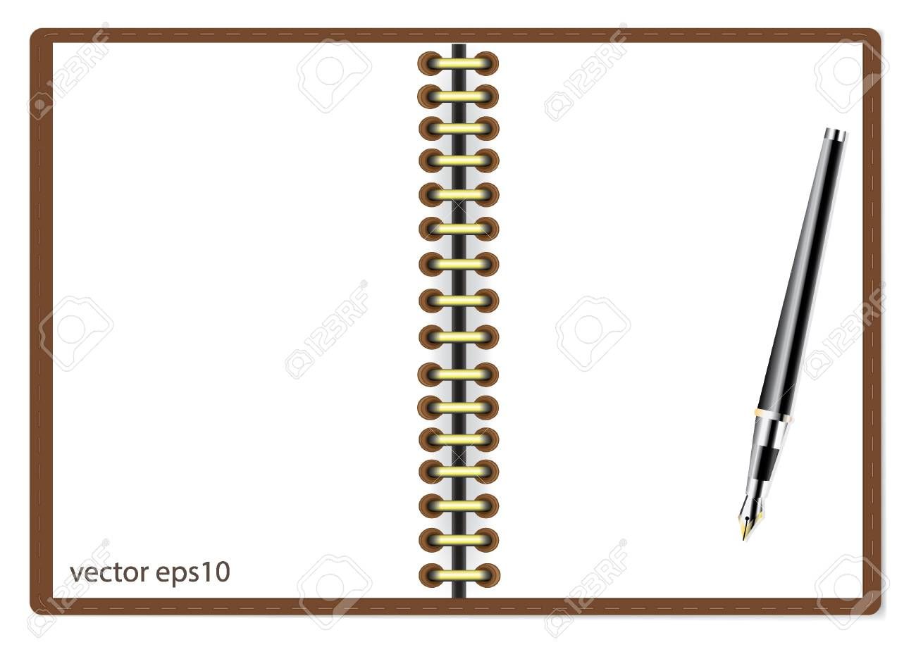 Notebook and pen vector illustration Stock Vector - 20748063