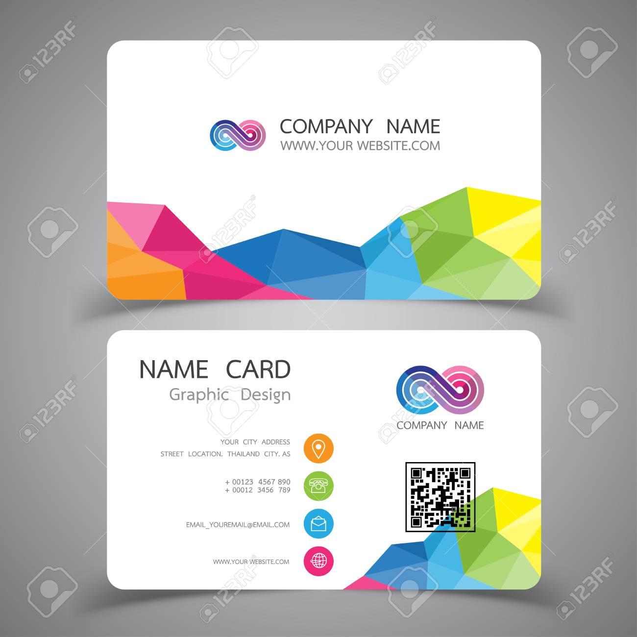 Business Card Design Set, Modern Creative Business Card Template In Web Design Business Cards Templates