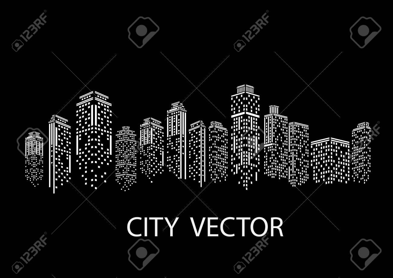 Night city Modern city landscape. Daytime city skyline. - 96284301