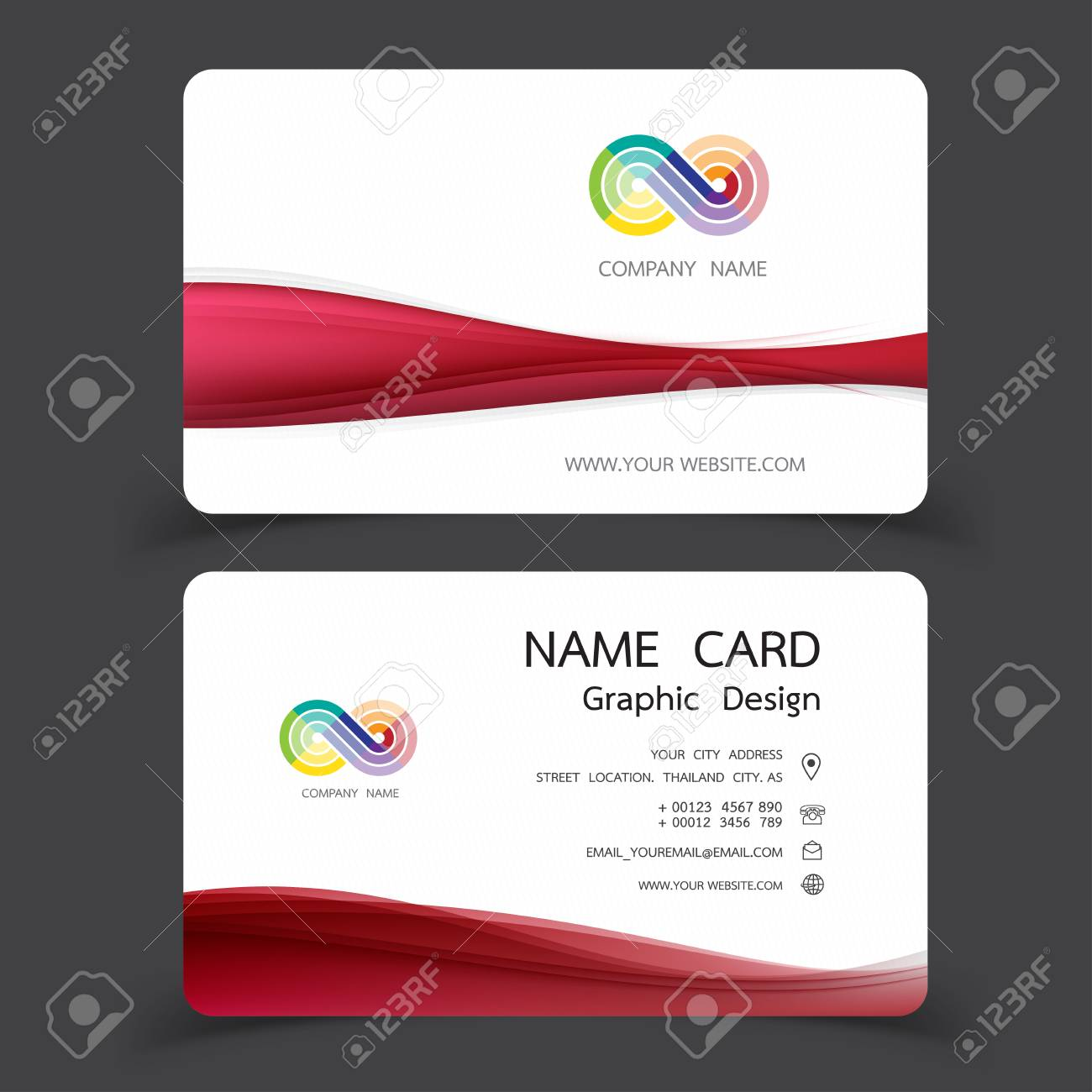 Business card design set modern creative business card template business card design set modern creative business card template vector illustrations stock vector colourmoves