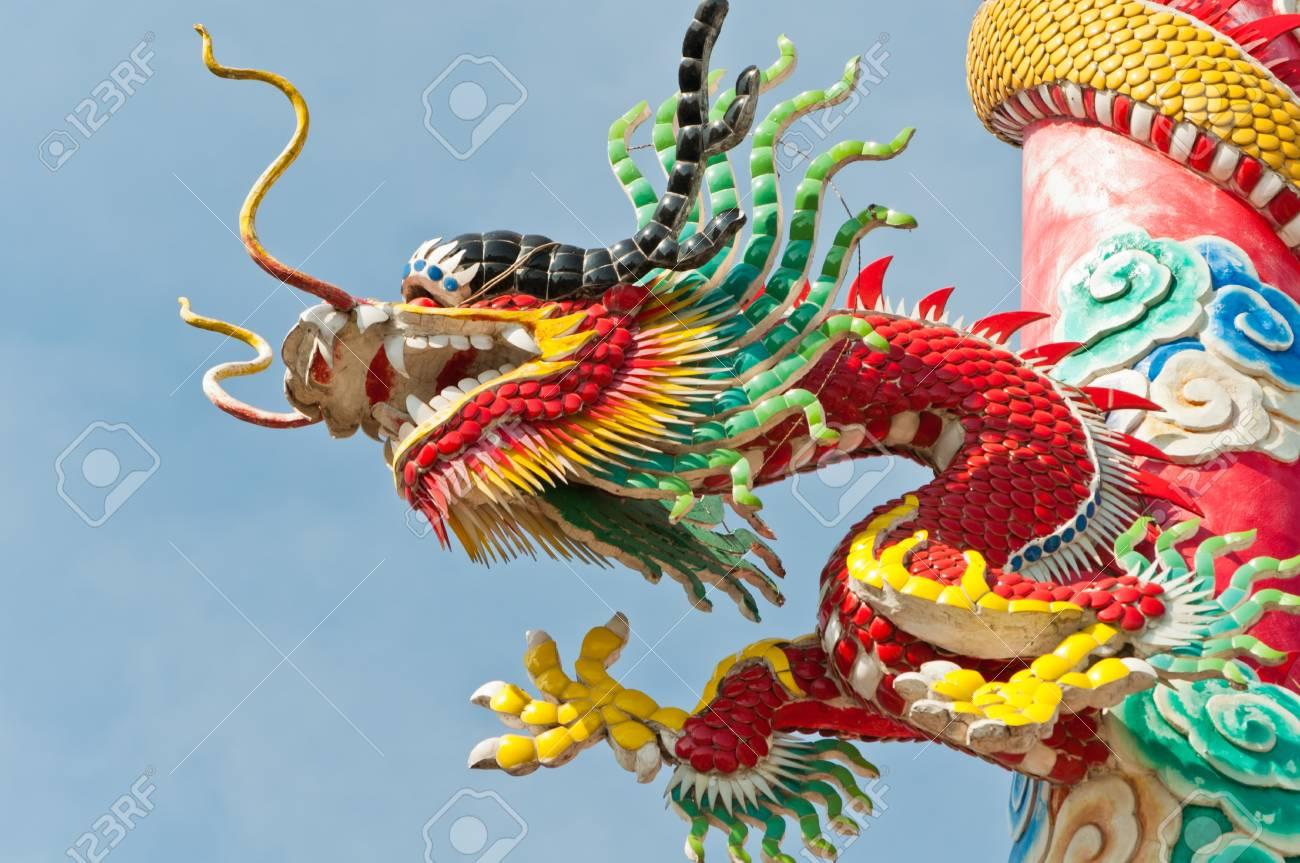 Dragon statue close-up Stock Photo - 11881885
