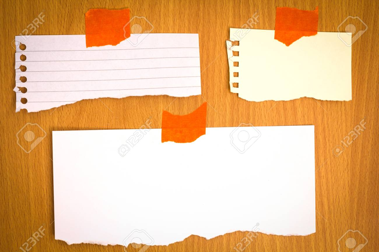 various note papers on Room wall and lighing from lamp Stock Photo - 19557228