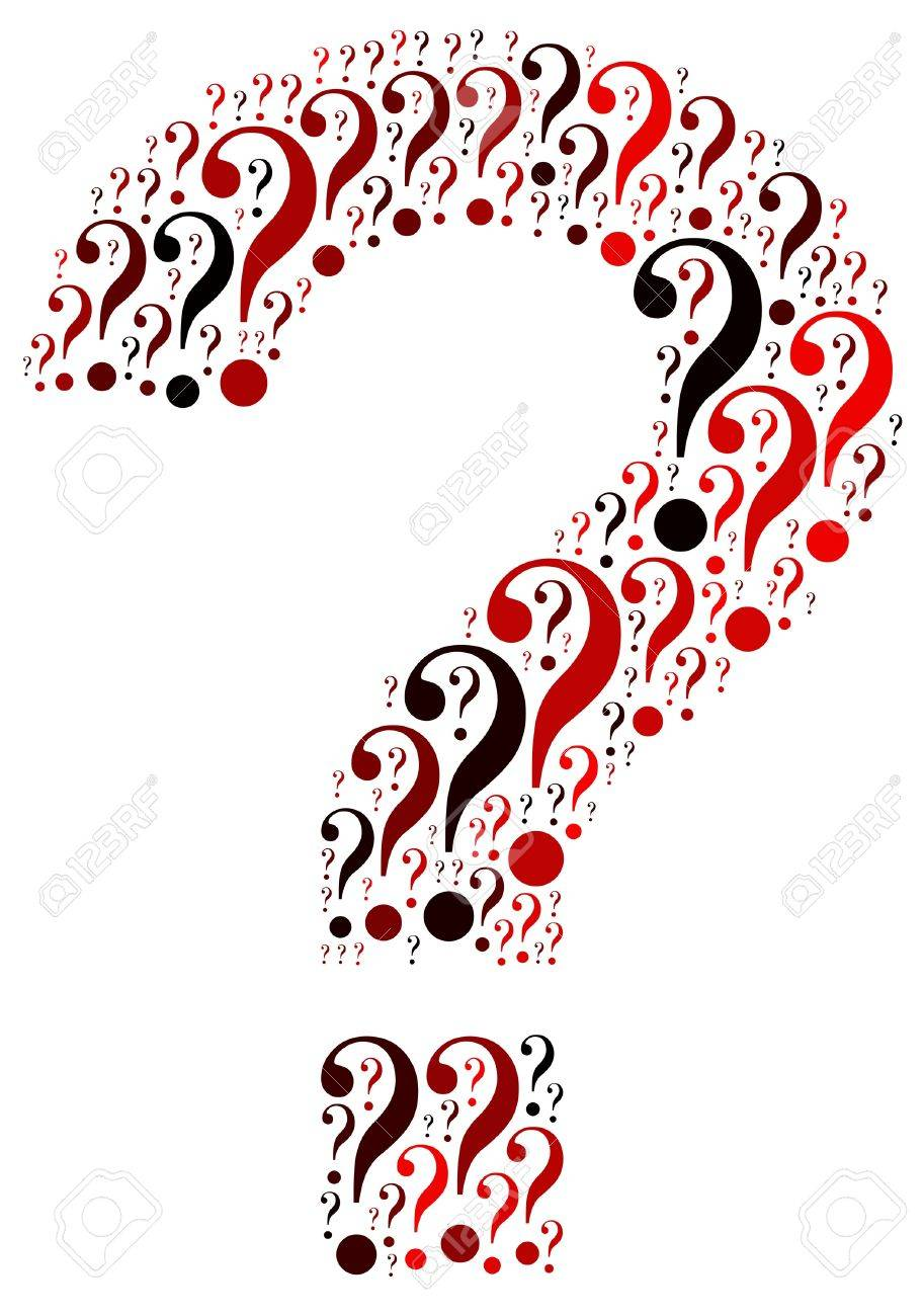 Question mark symbol and arrangement concept on white background  word cloud Stock Photo - 16202596