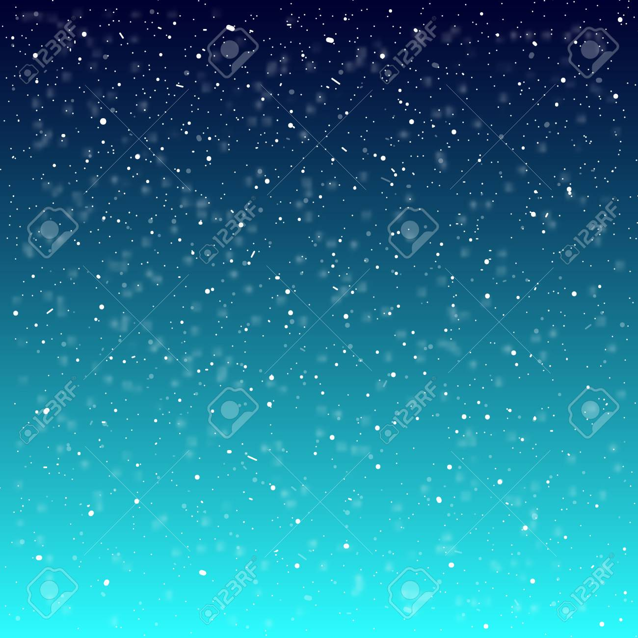 Falling snow background. Vector illustration with snowflakes. Winter snowing sky. Eps 10. - 126770192