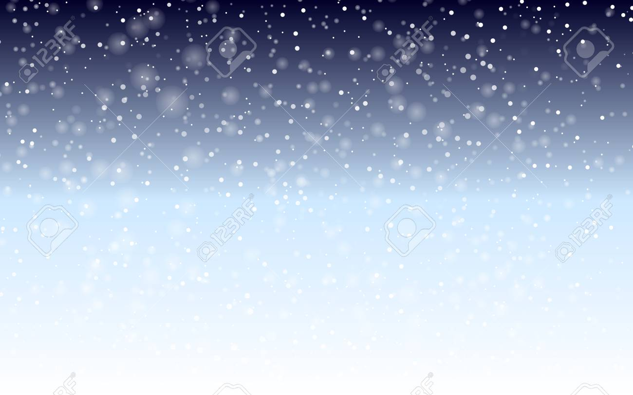 Falling snow background. Holiday landscape with snowfall. Vector illustration. Winter snowing sky. Eps 10. - 126678470