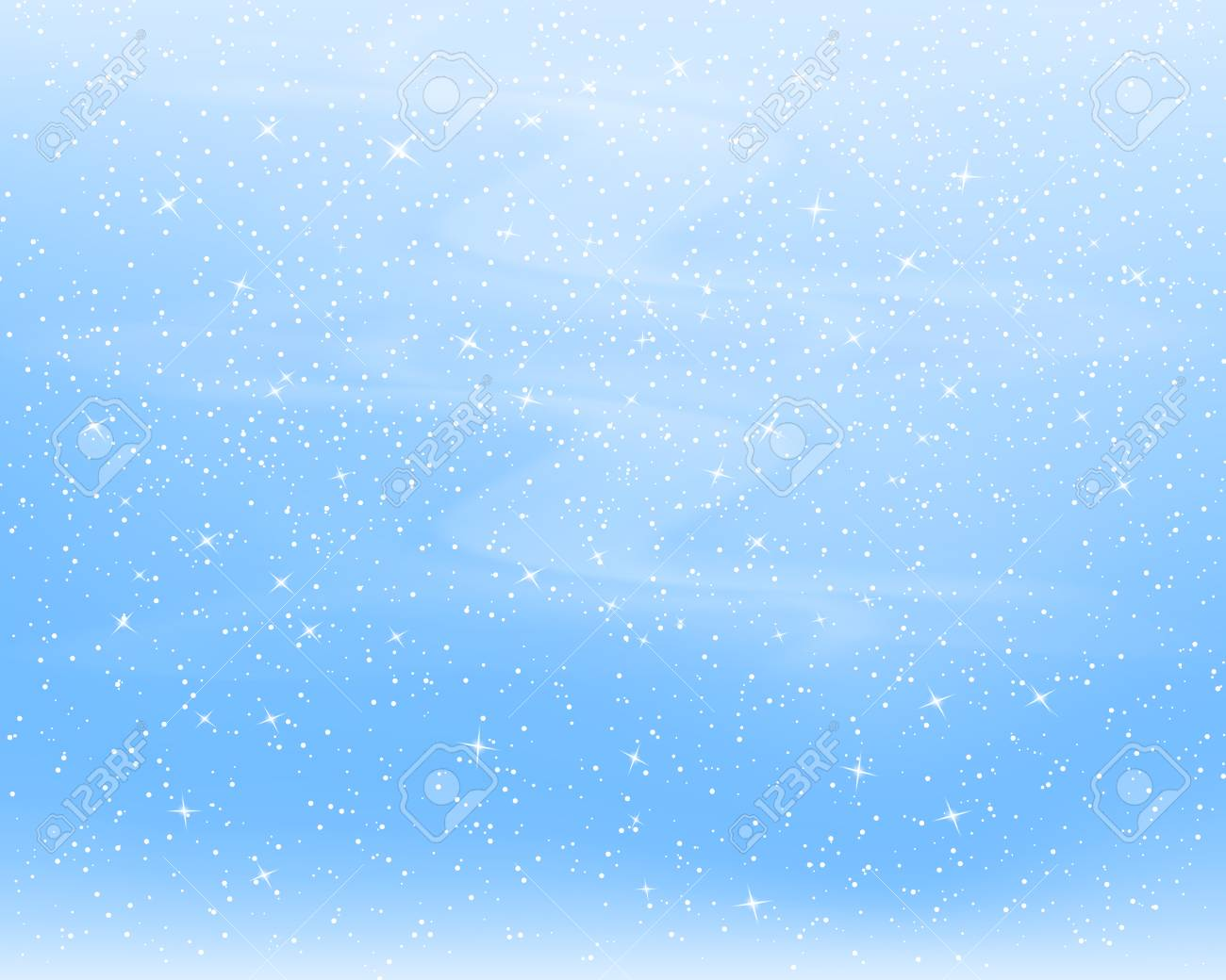 Falling snow background. Vector illustration with snowflakes. Winter snowing sky. Eps 10. - 126582842