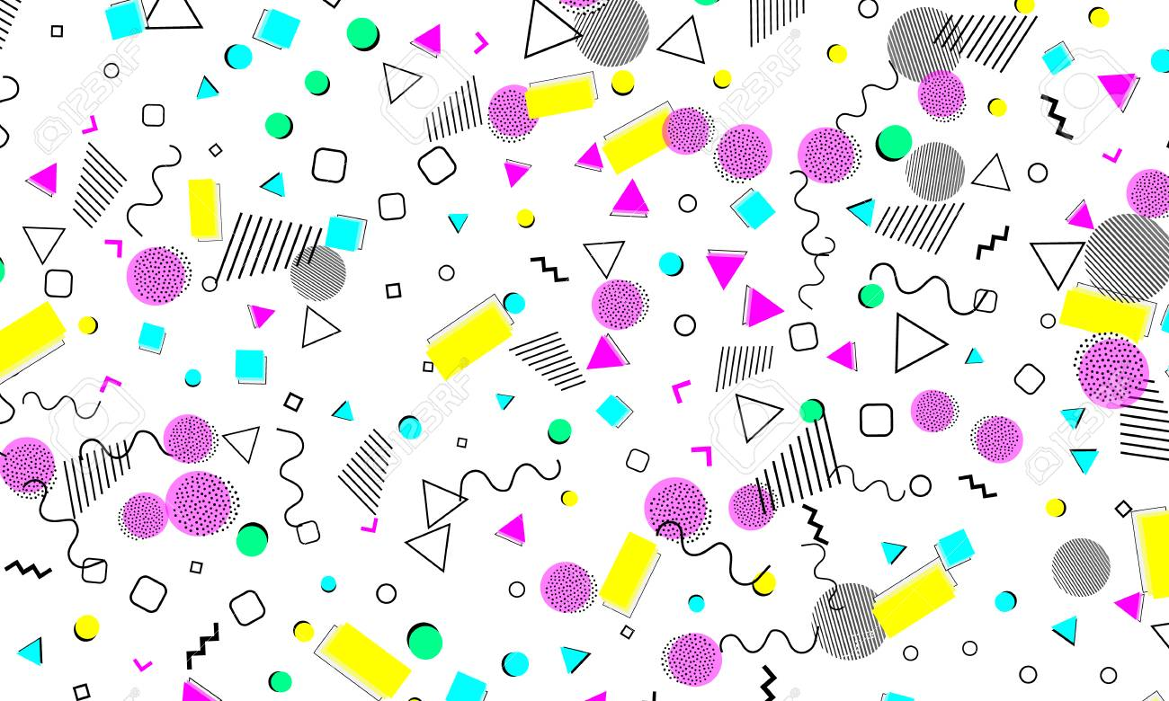 Tiled Purple Abstract Pop Art Background