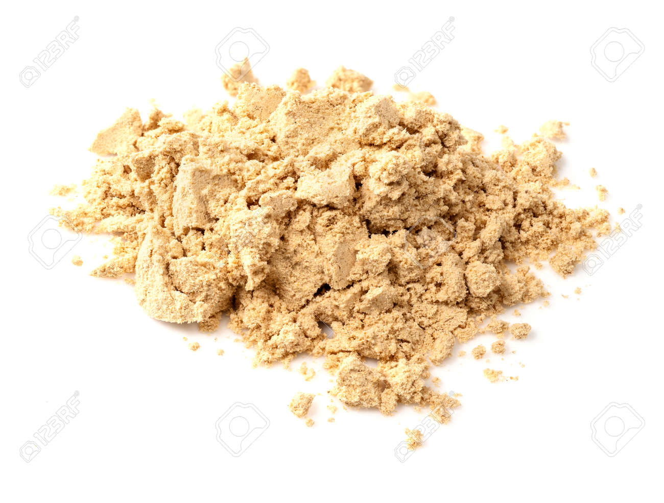 pile of ginger powder closeup on white background - 168709818