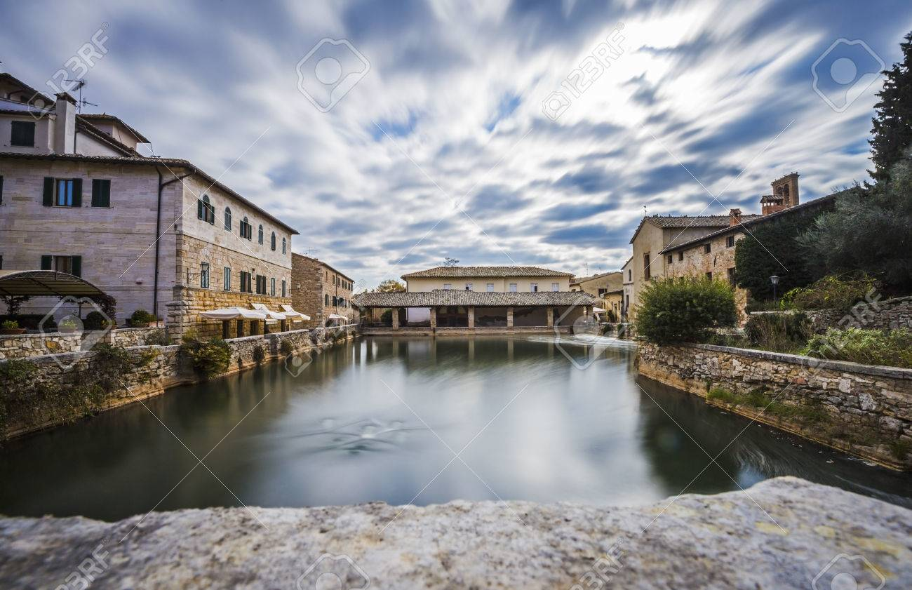 Ancient Thermal Baths In The Medieval Village Of Bagno Vignoni ...