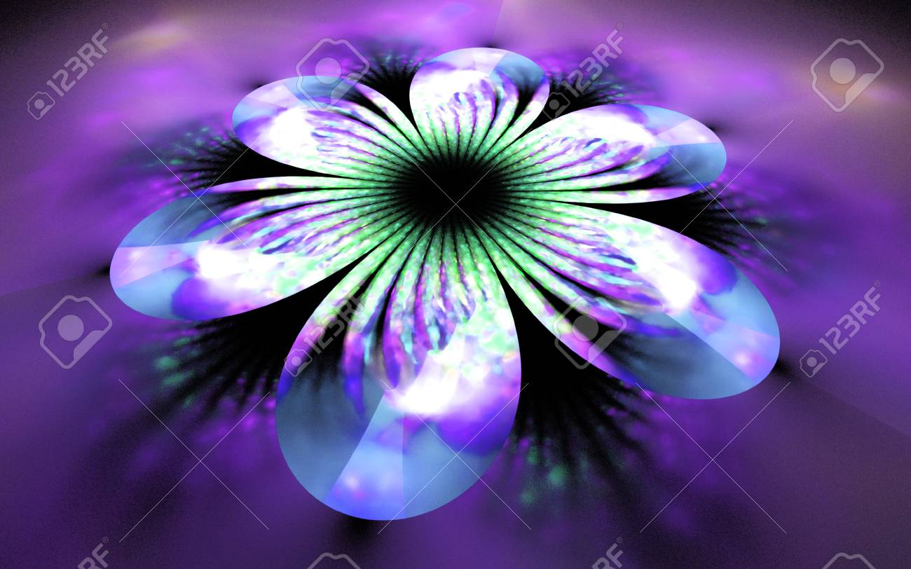 Abstract flower on blurred background fantasy fractal design abstract flower on blurred background fantasy fractal design in white green blue and izmirmasajfo
