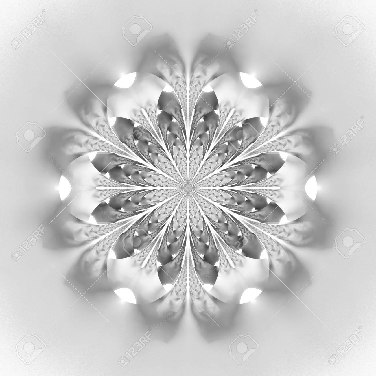 Resume Mandala De Fleurs Sur Fond Blanc Motif Symetrique Intricate
