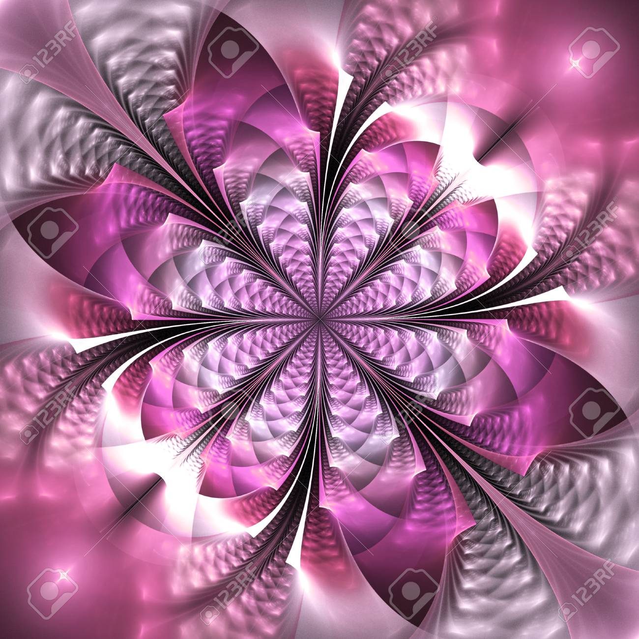 67171970 abstract exotic flower in pink colors psychedelic design for wallpapers or textile fractal art 3d re