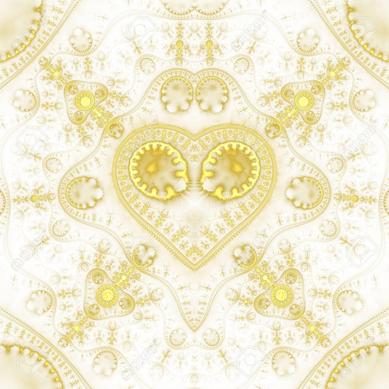 Coeur Steampunk résumé orné de coeur steampunk. fond décoratif géométrique détaillé