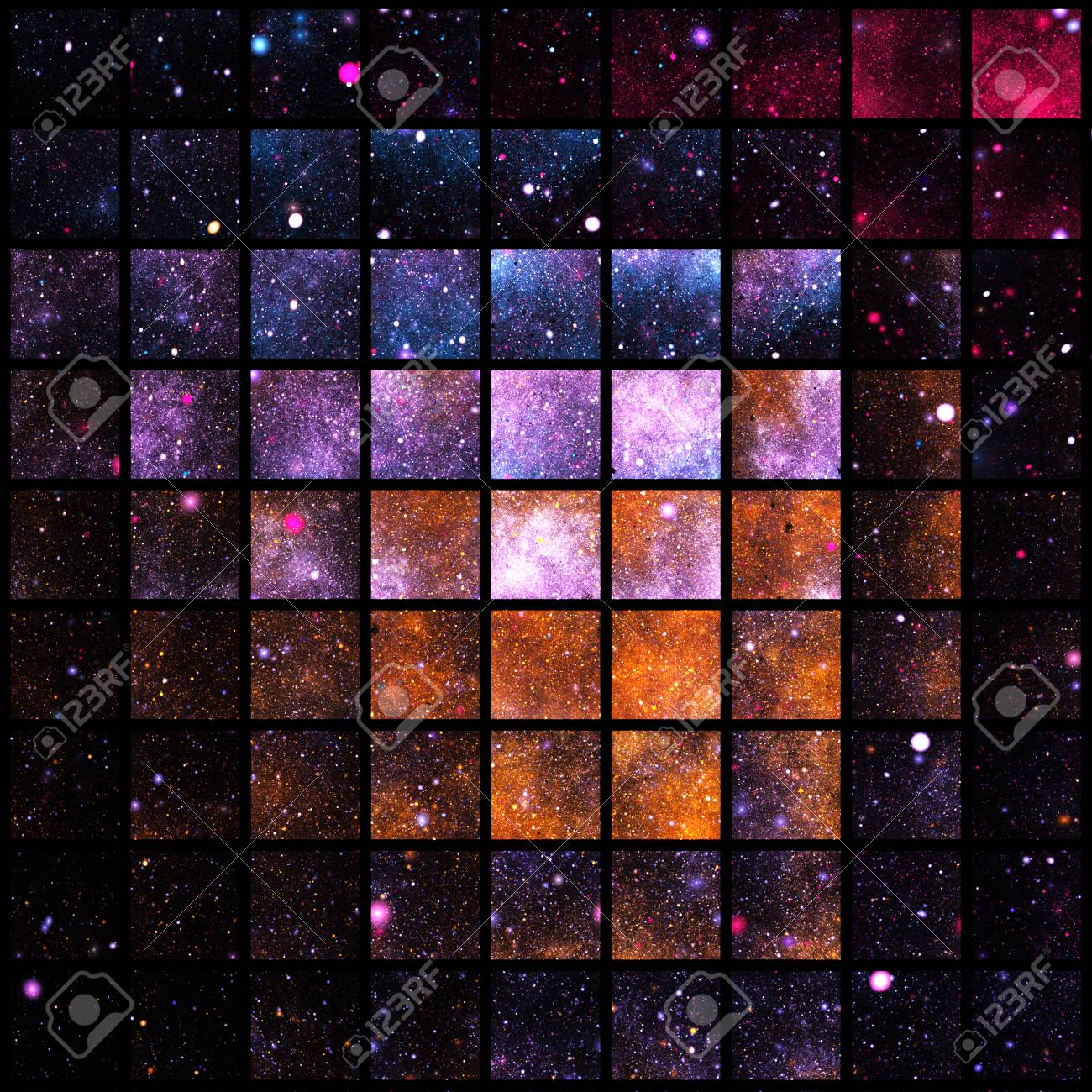 Abstract Geometric Texture With Orange Blue Red And Violet