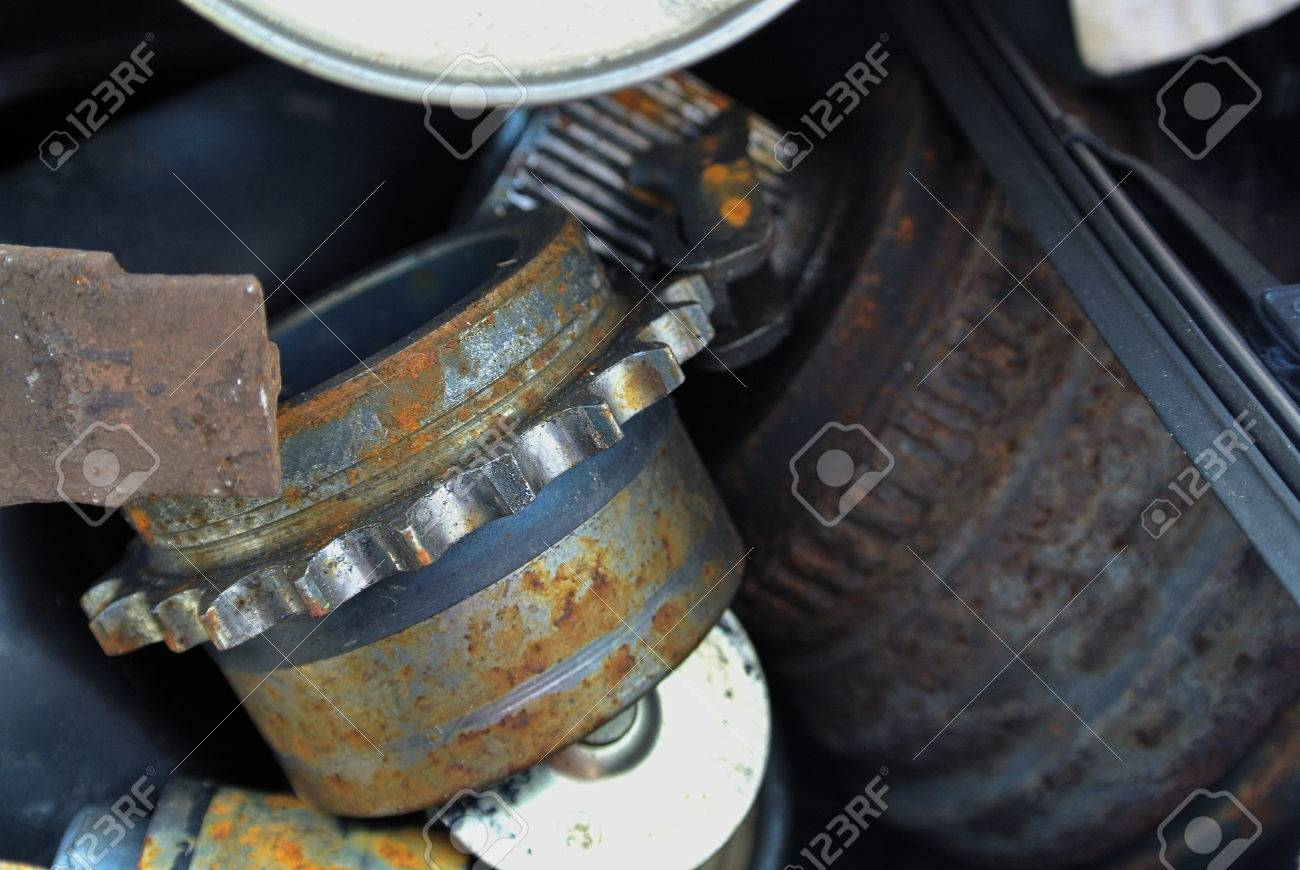 Old And Worn Out Car Parts Stock Photo, Picture And Royalty Free ...