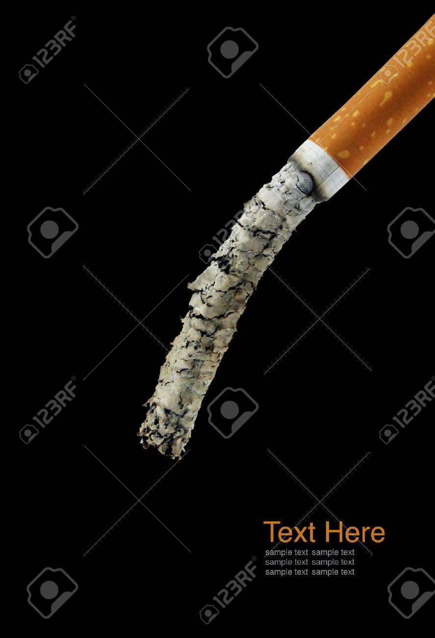 Cigarette butt  long ash Stock Photo - 10288986