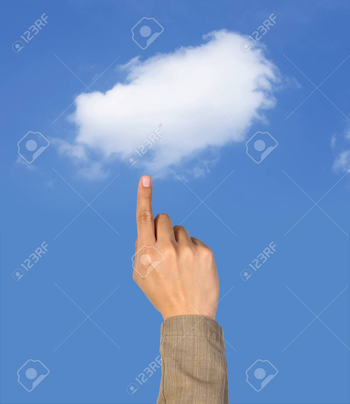 Hand select the cloud computing Stock Photo - 10334046