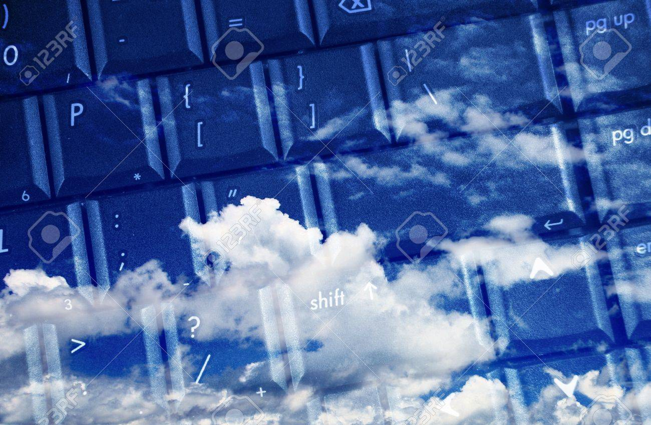 computer keyboard for cloud computing Stock Photo - 10334049