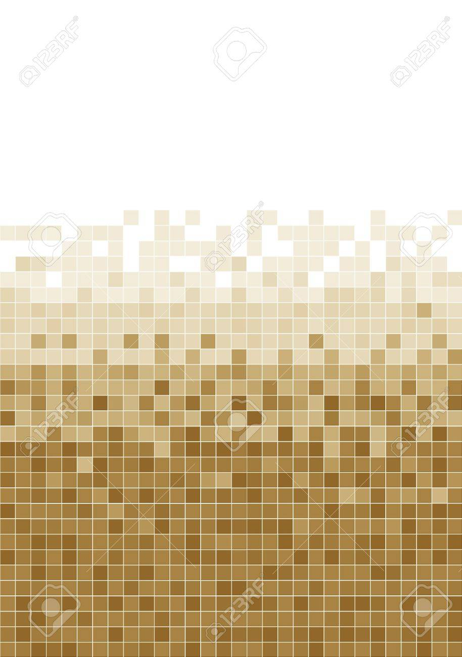 A brown mosaic tile background Stock Photo - 10346502