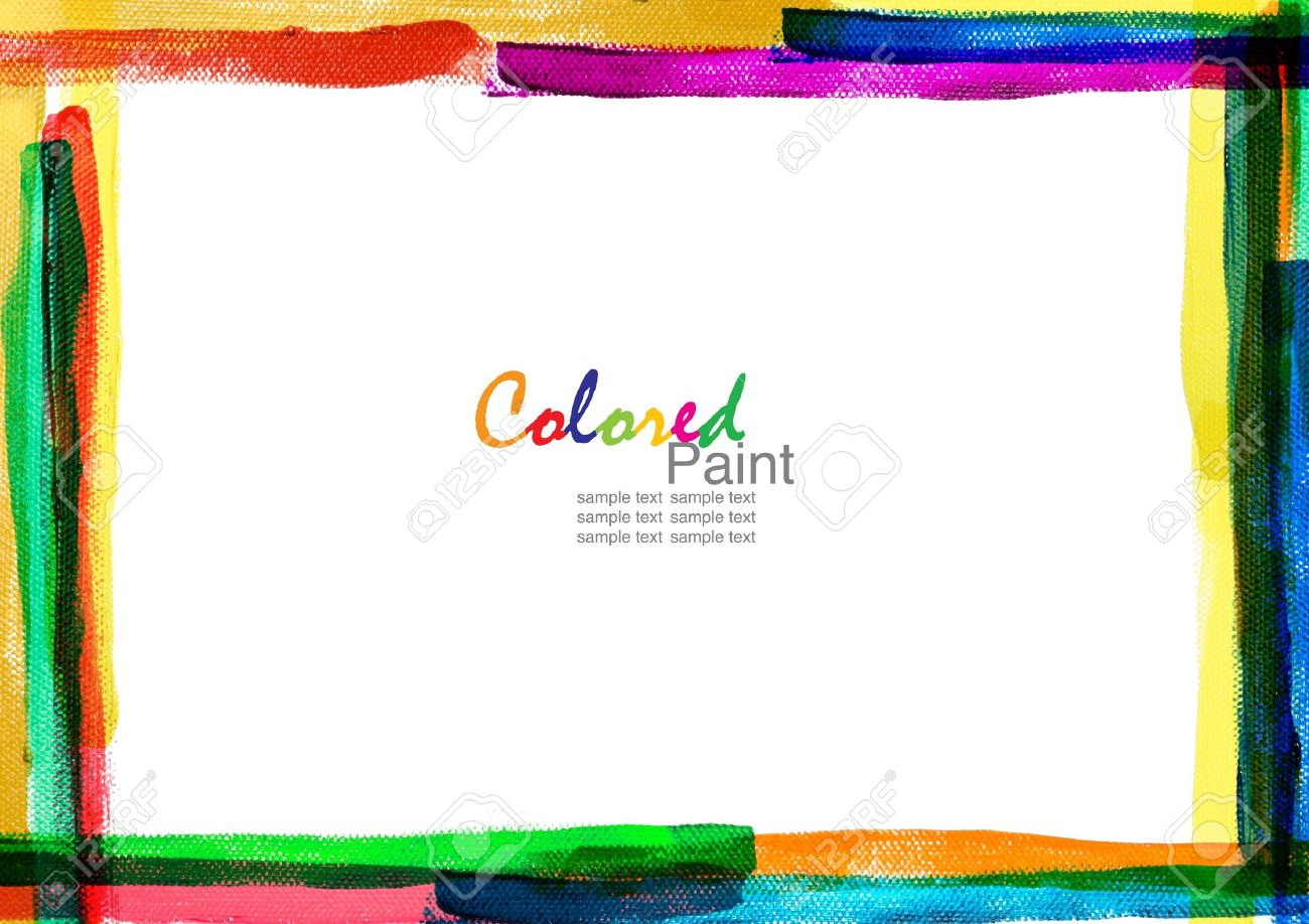 A Brush Color Frame Canvas Stock Photo, Picture And Royalty Free ...