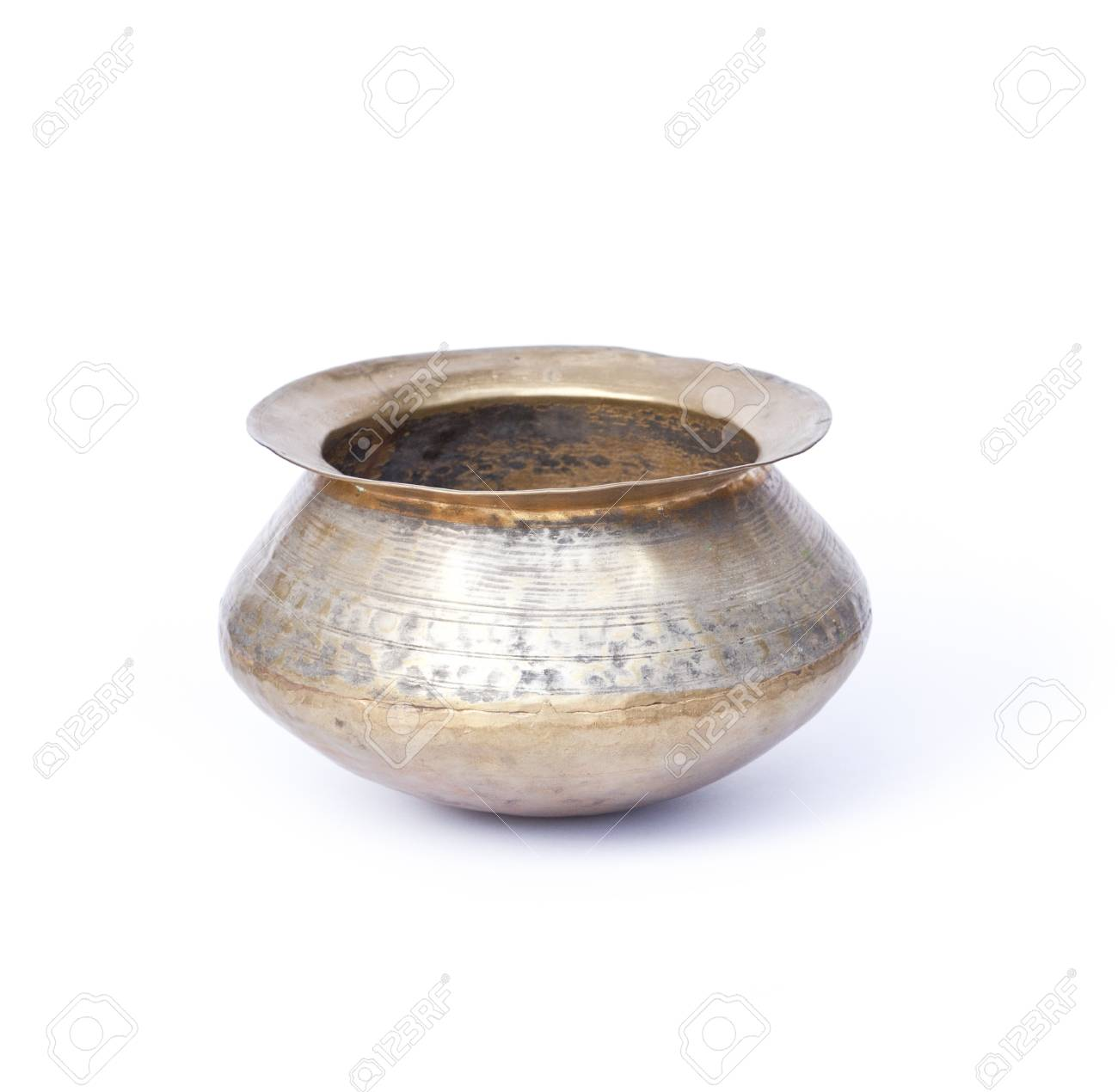 copper pot isolated on white Stock Photo - 13654979