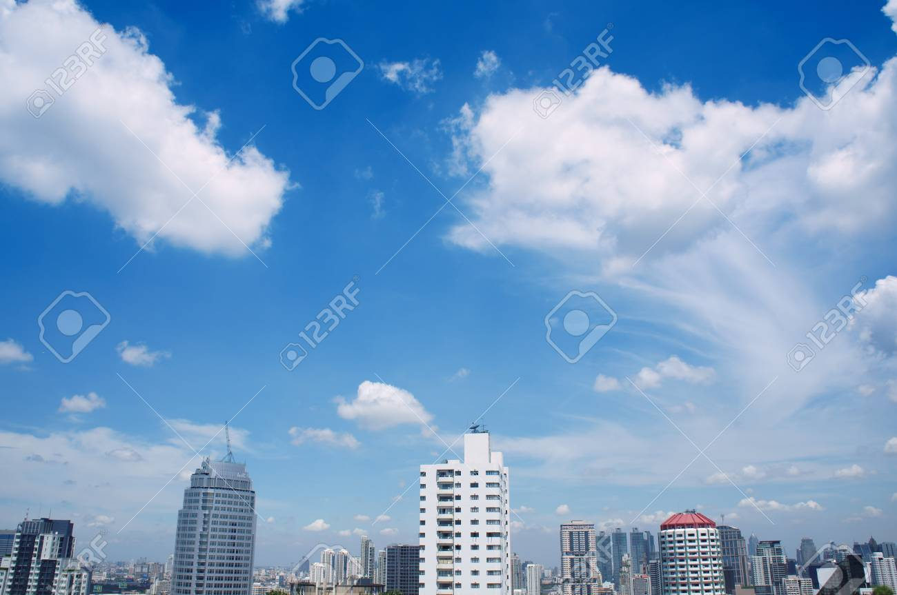 beauty cloud and sky on city view. Stock Photo - 13716324