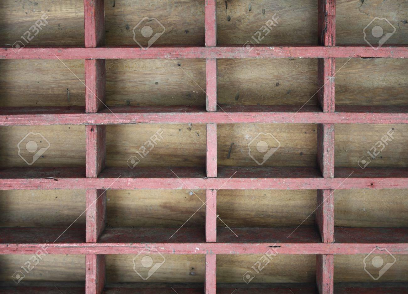 Vintage wood shelf block background Stock Photo - 14043063