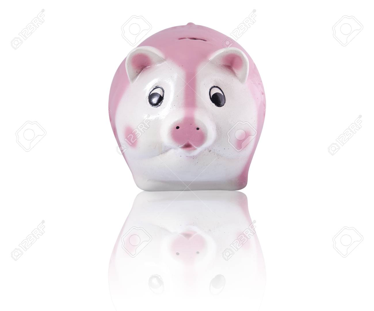Growing Investment, Piggy Bank on a white background Stock Photo - 14042419