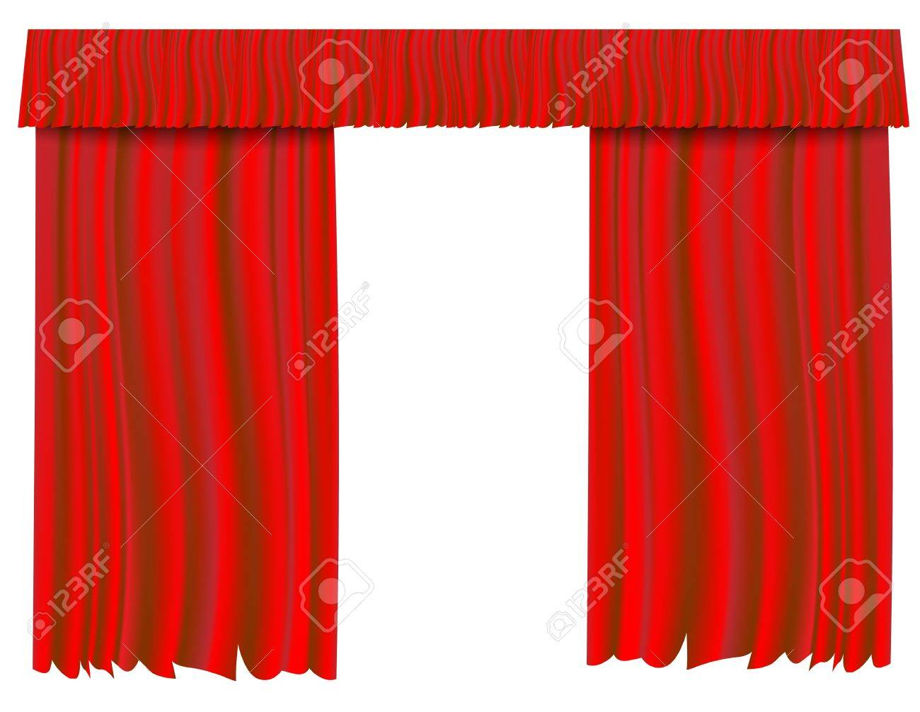 Red theater curtain Stock Vector - 20732103