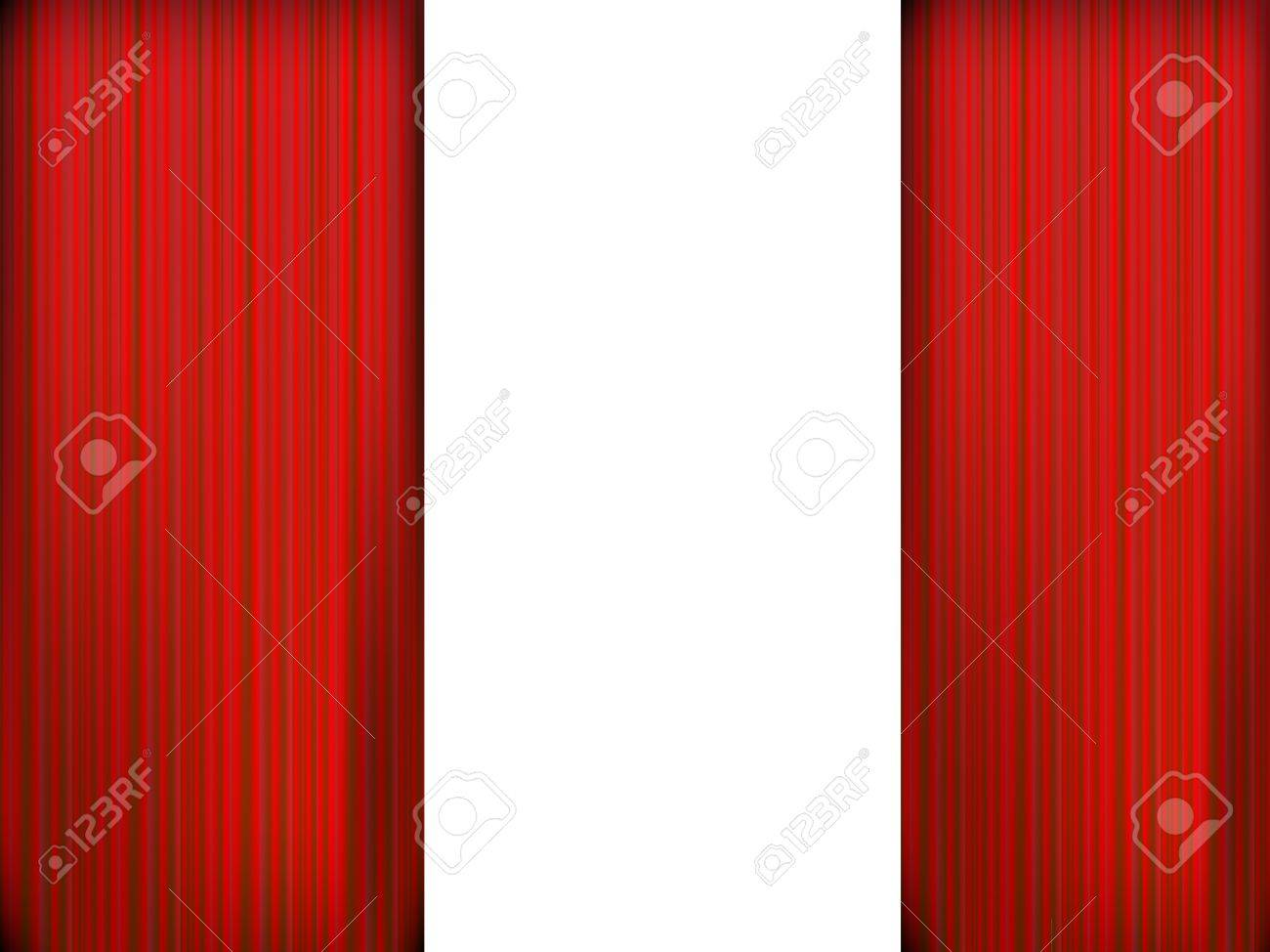 Red theater curtain Stock Vector - 20732104