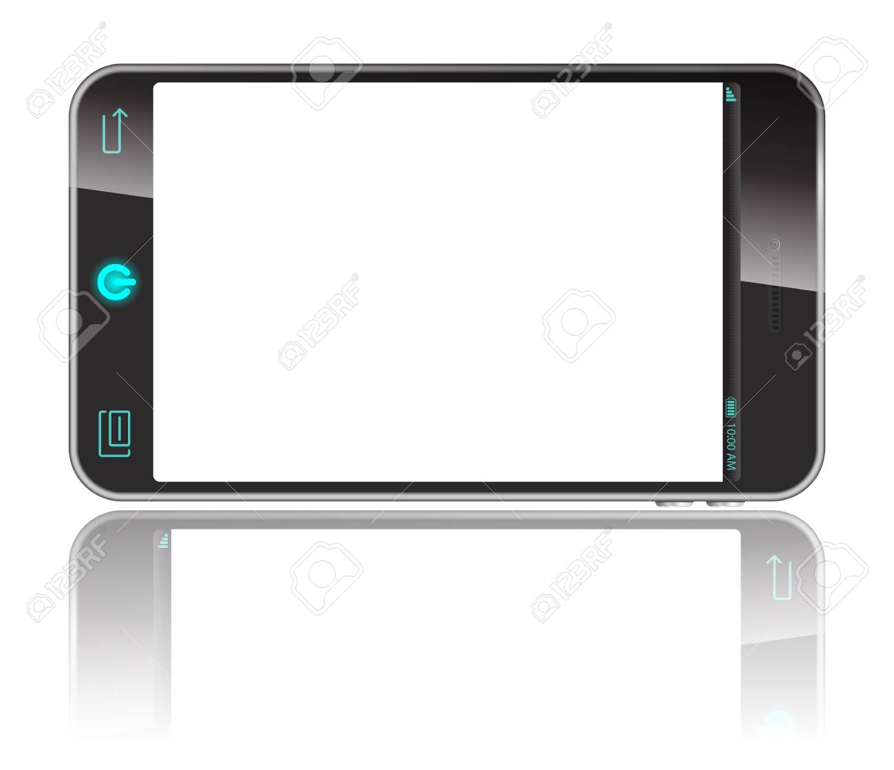 white, smart phone isolaed on white Stock Vector - 20732112