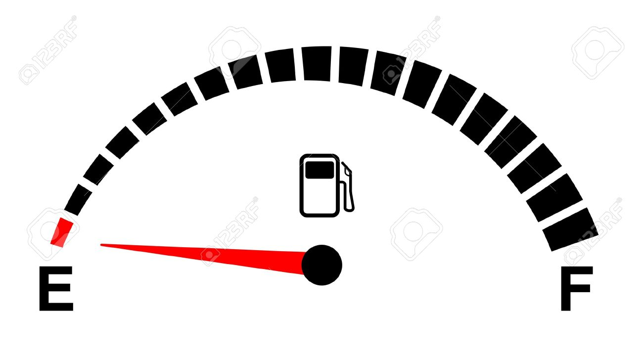 Fuel Gauge Symbol fuel gauge empty on white